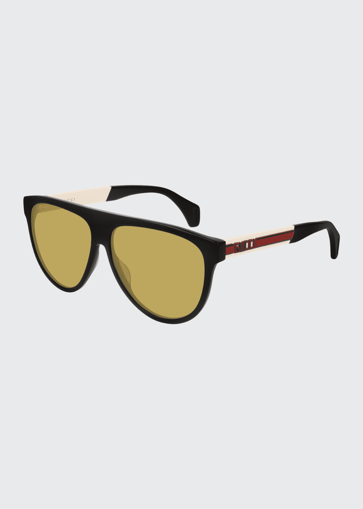 Image 1 of 1: Men's Nylon Flat-Top Rounded Sunglasses