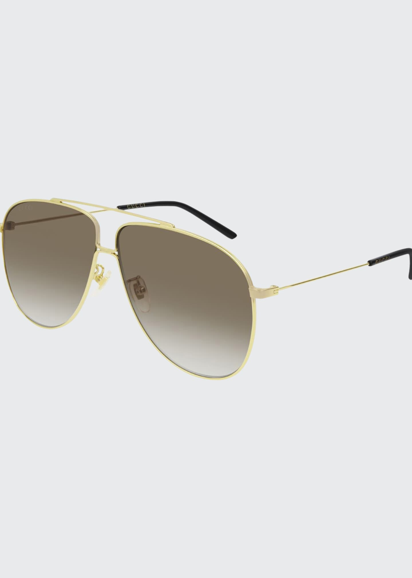 Gucci Men's Gradient Aviator Sunglasses