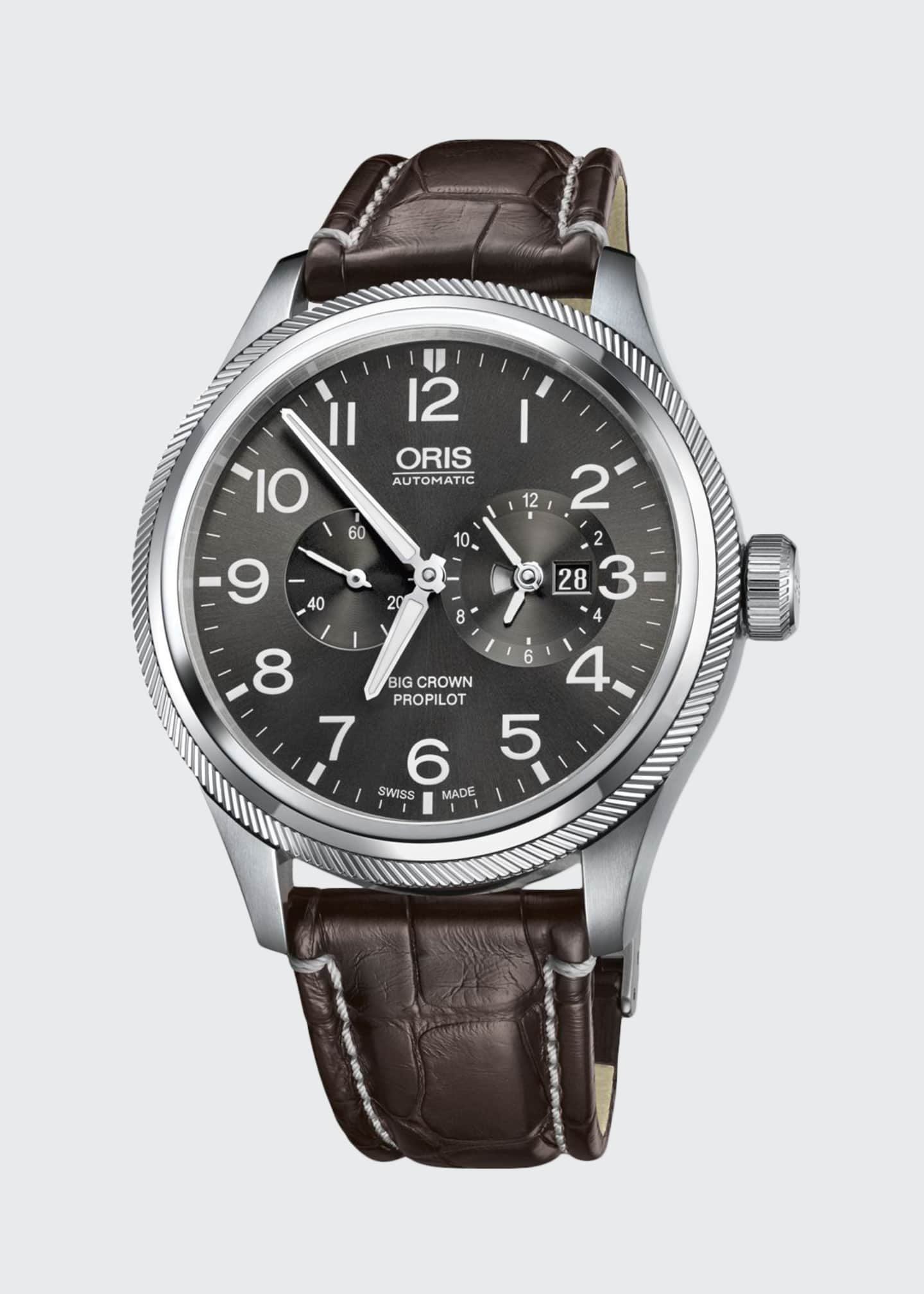 Oris Men's 44.7mm Big Crown Propilot Worldtimer Watch,