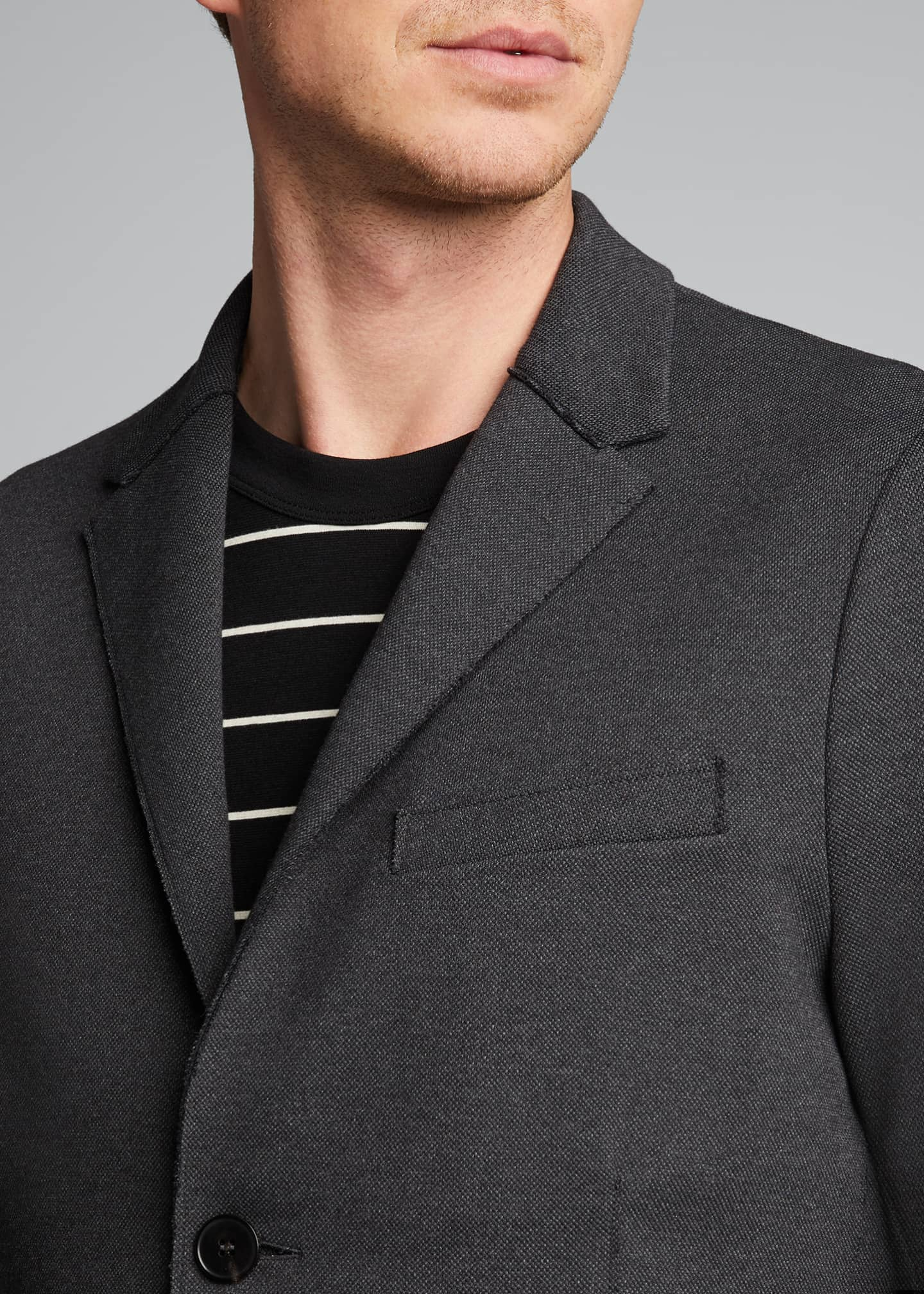 Image 4 of 5: Men's Piquet Blazer w/ Elbow Patch