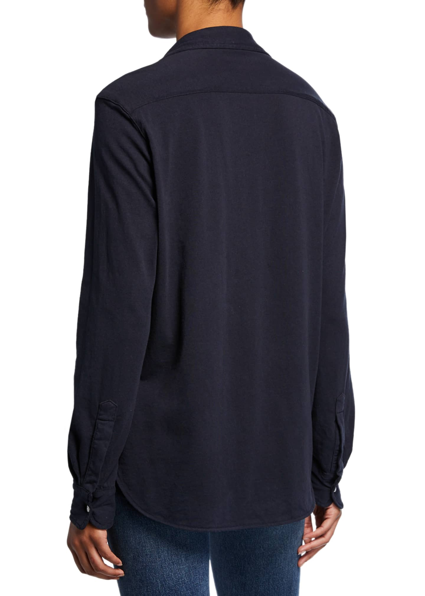 Image 2 of 2: Button-Down Long-Sleeve Cotton Shirt