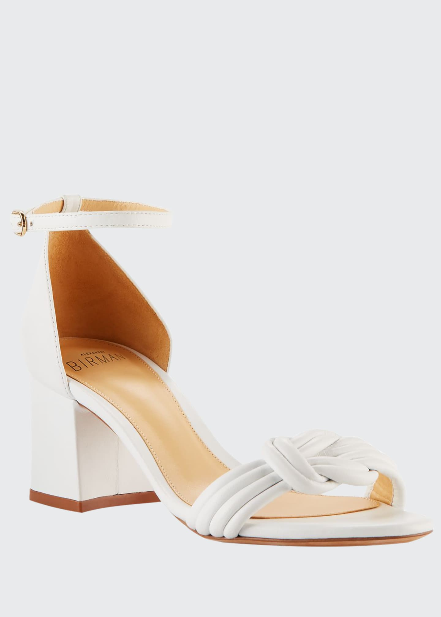 Alexandre Birman Vicky Knotted Leather Low-heel Sandals