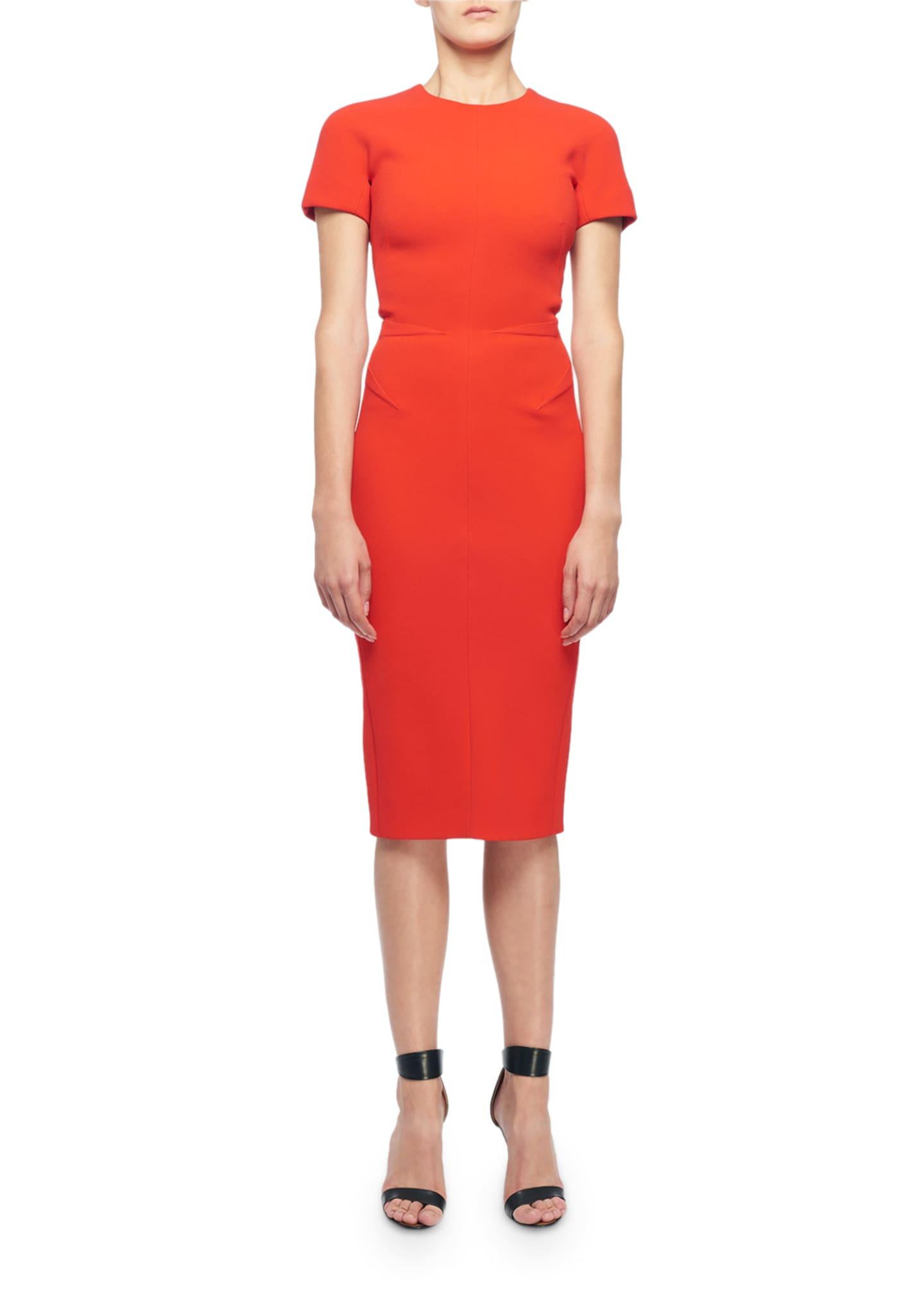 Victoria Beckham Short-Sleeve Round Neck