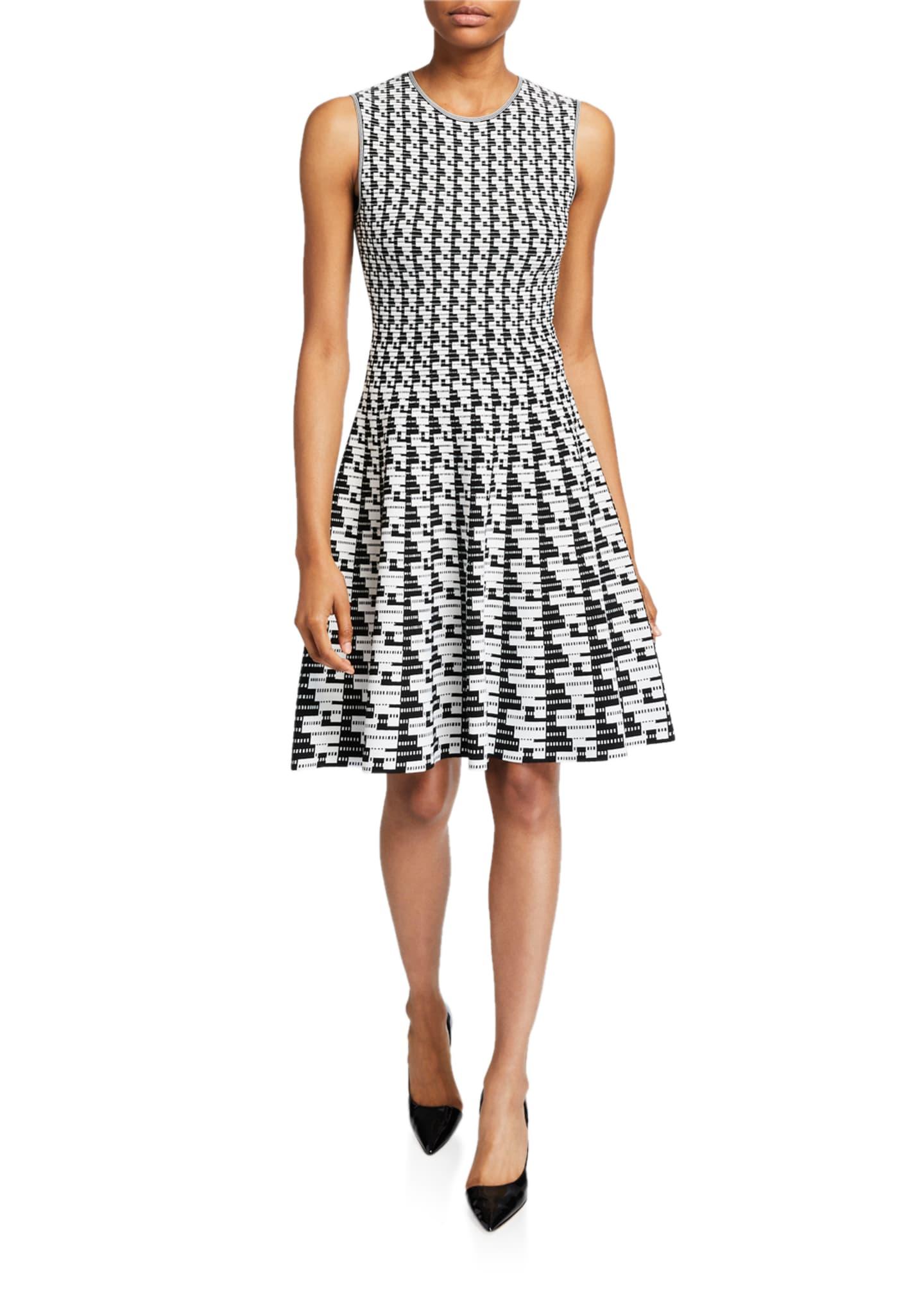 Akris punto Soundboard-Print A-Line Dress