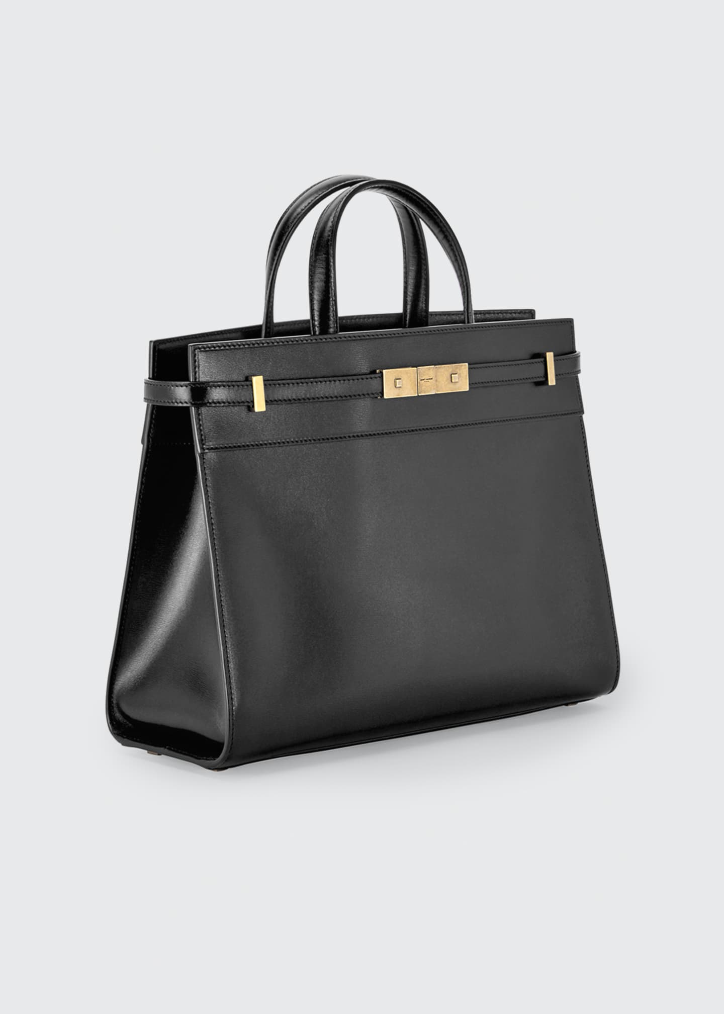 Image 2 of 2: Manhattan Small Smooth Leather Tote Bag