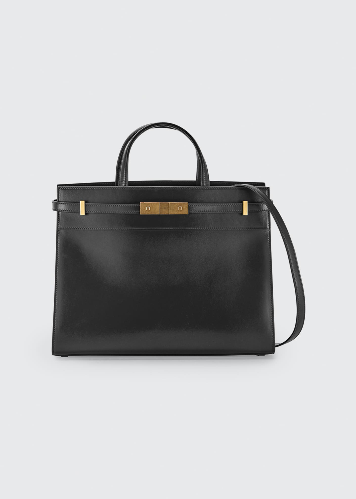 Image 1 of 2: Manhattan Small Smooth Leather Tote Bag