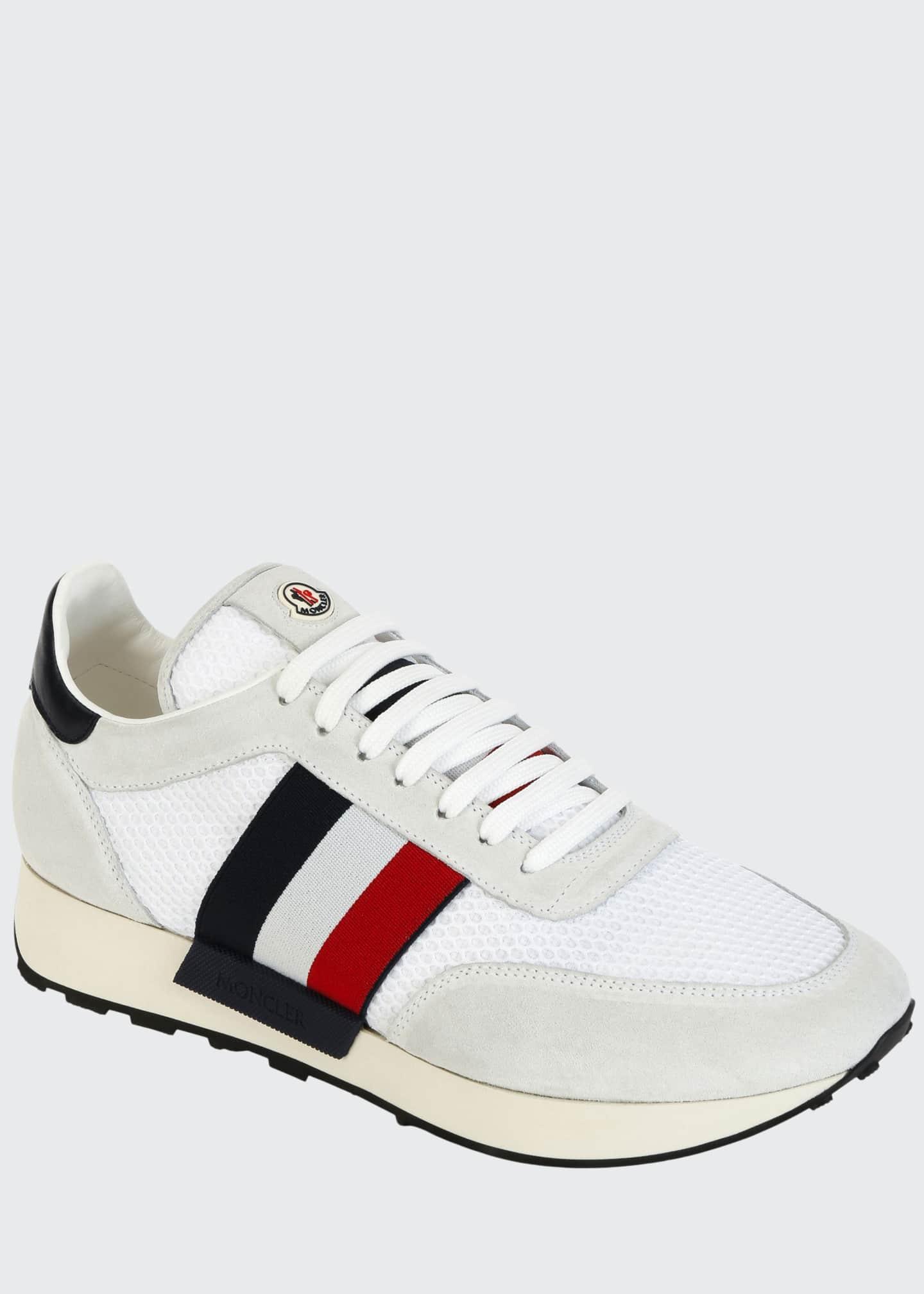 Moncler Men's Horace Suede & Nylon Trainer Sneakers