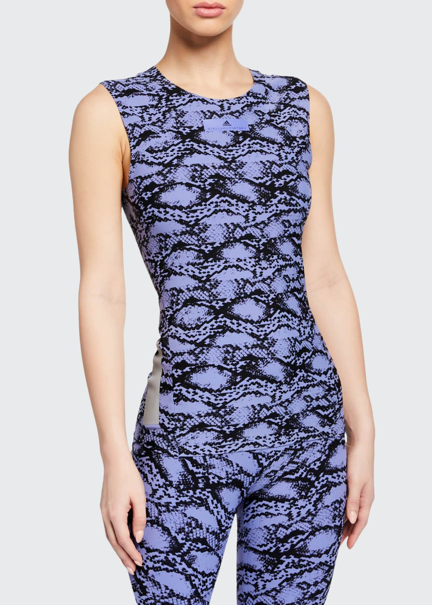 adidas by Stella McCartney Alphaskin Scoop-Neck Printed Active