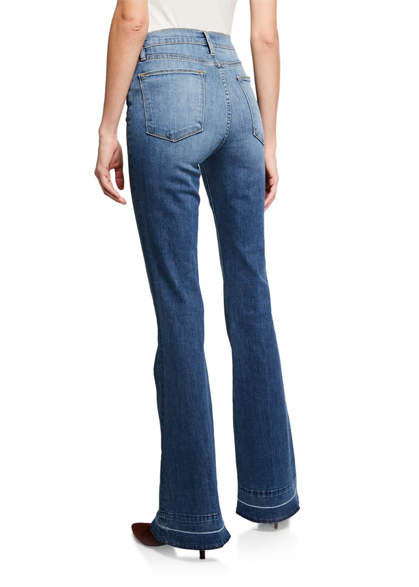 Image 2 of 3: Le High Flare Wide-Leg Jeans w/ Released Hem