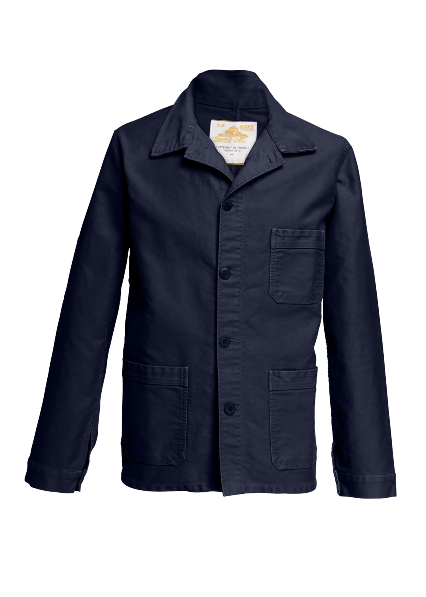 Image 4 of 4: Men's Stone-Washed French Worker Jacket