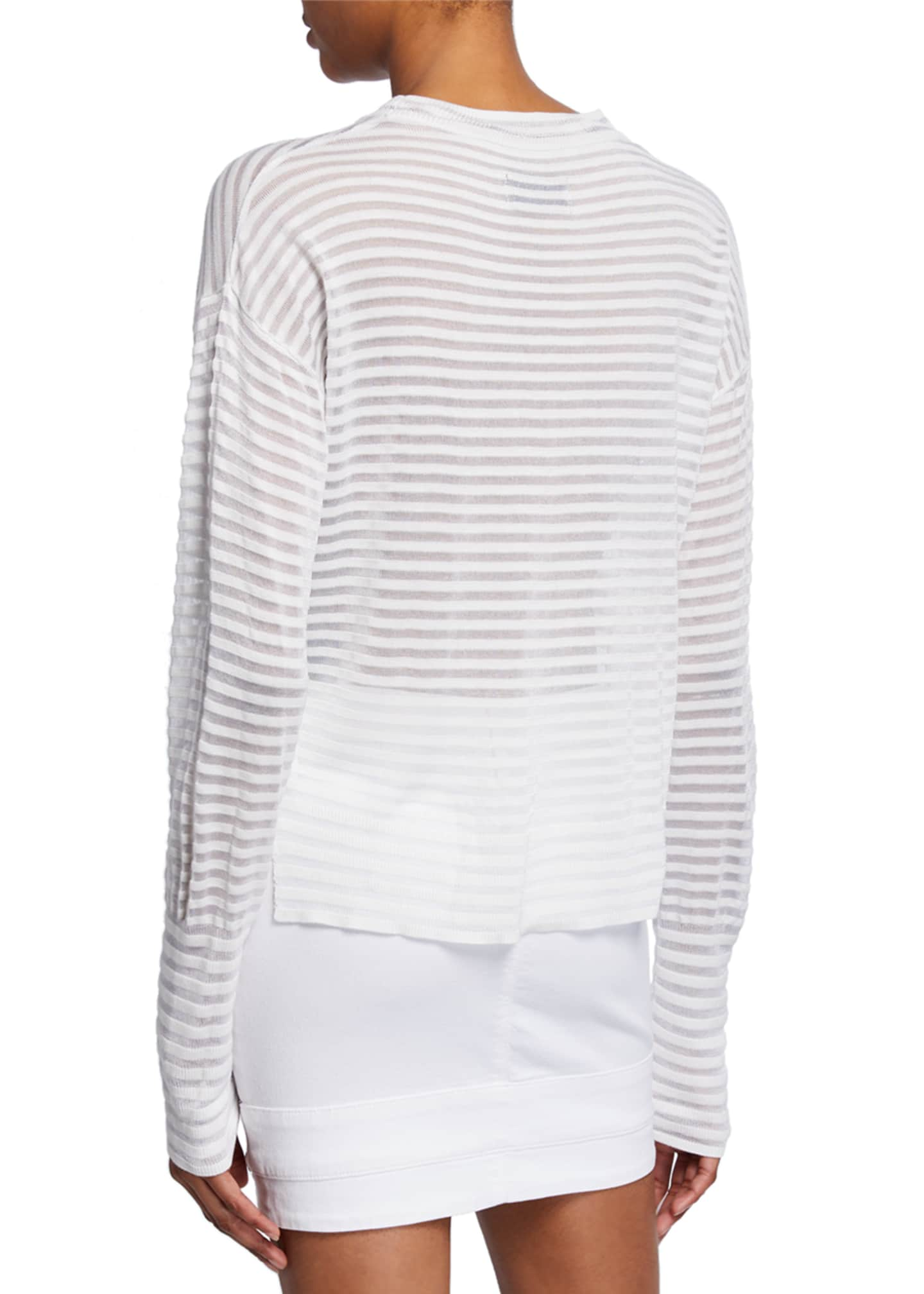 Image 2 of 2: Gilda Striped Long-Sleeve Top