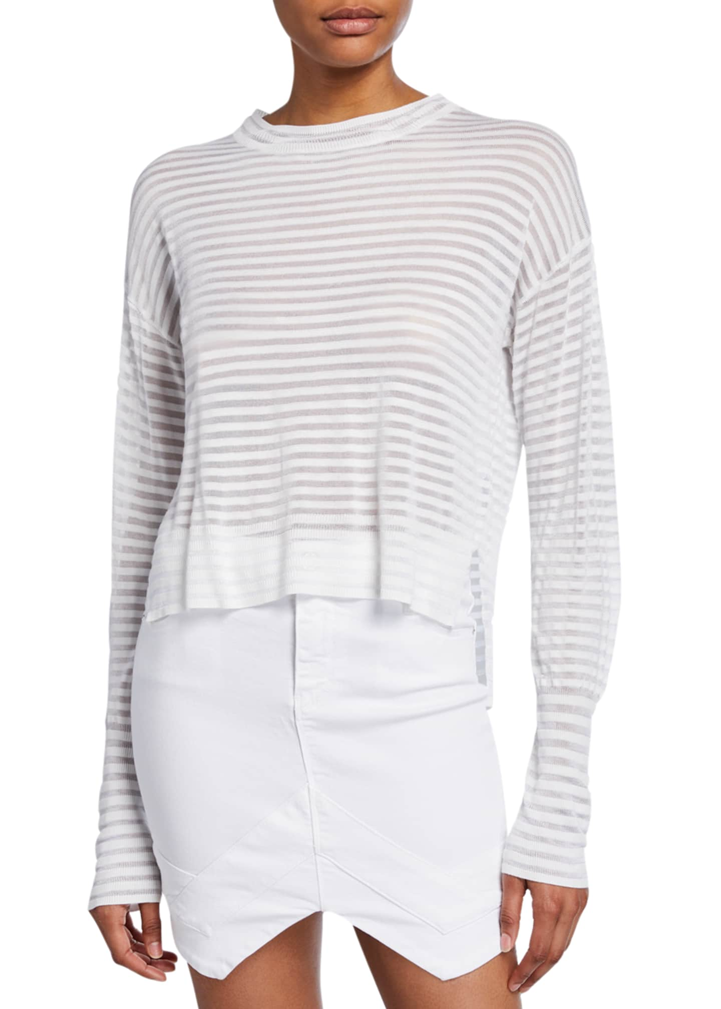 Image 1 of 2: Gilda Striped Long-Sleeve Top
