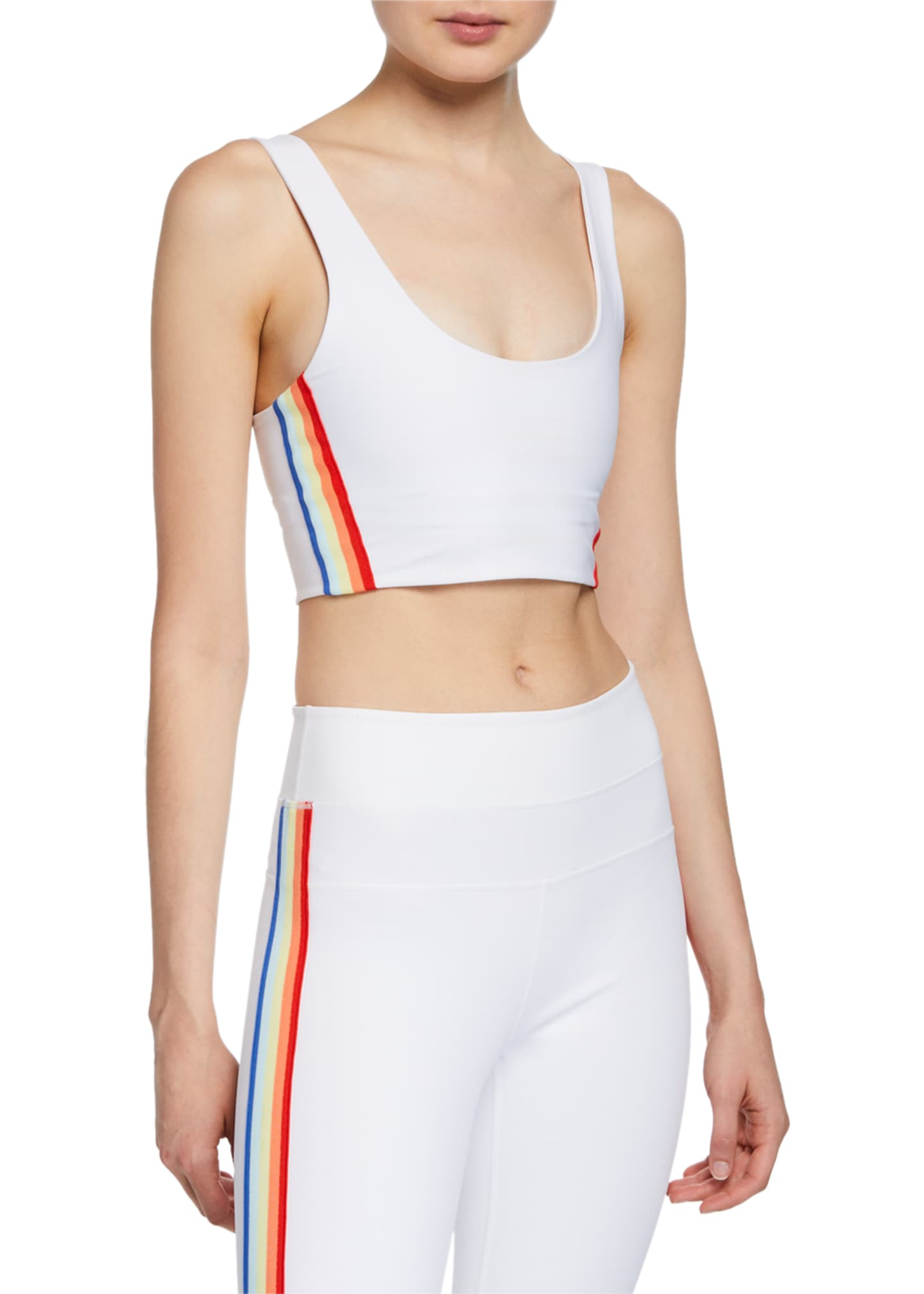 Spiritual Gangster Shakti Side-Stripe Scoop-Neck Sports Bra