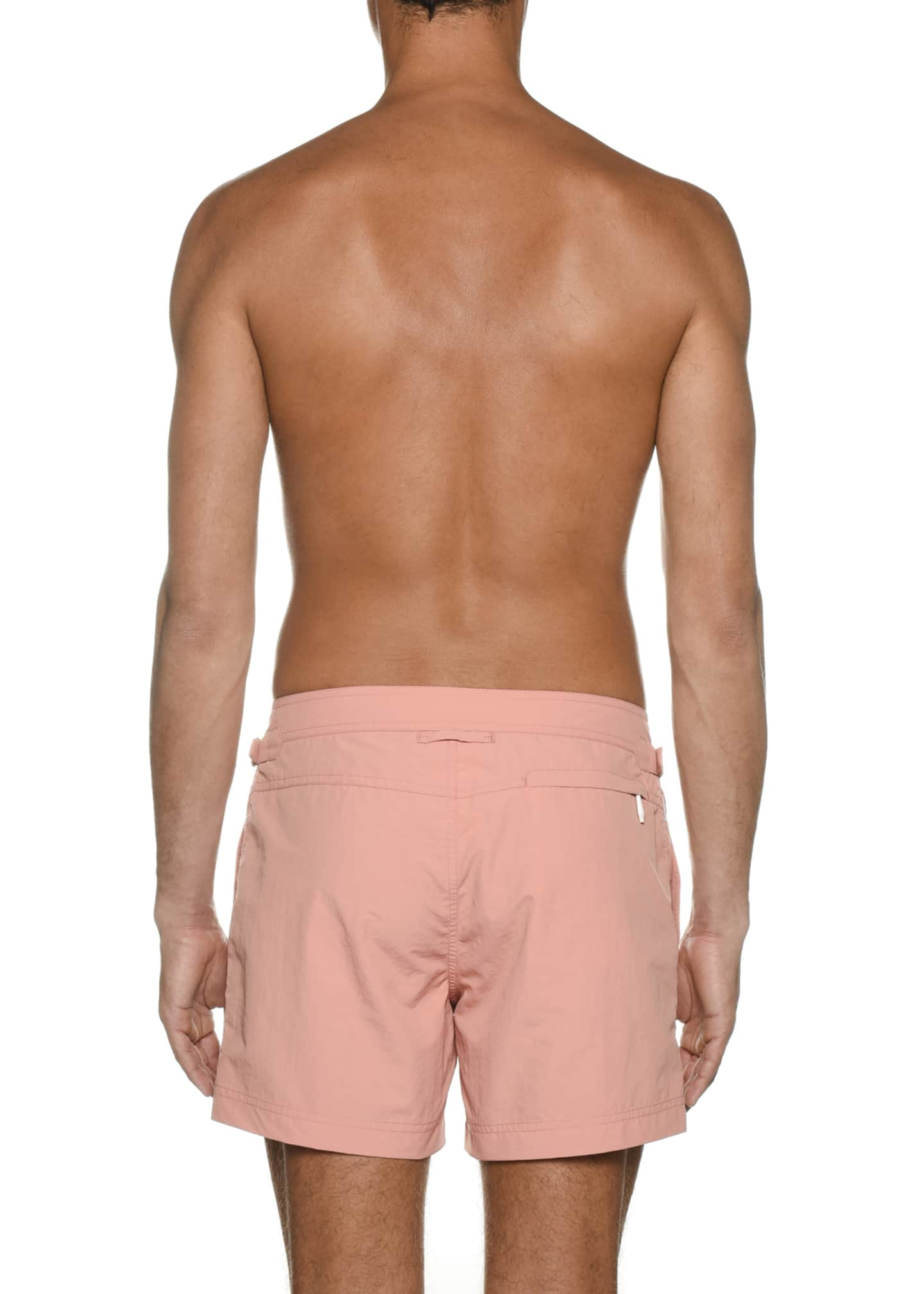 Image 3 of 3: Men's Solid Swim Trunks