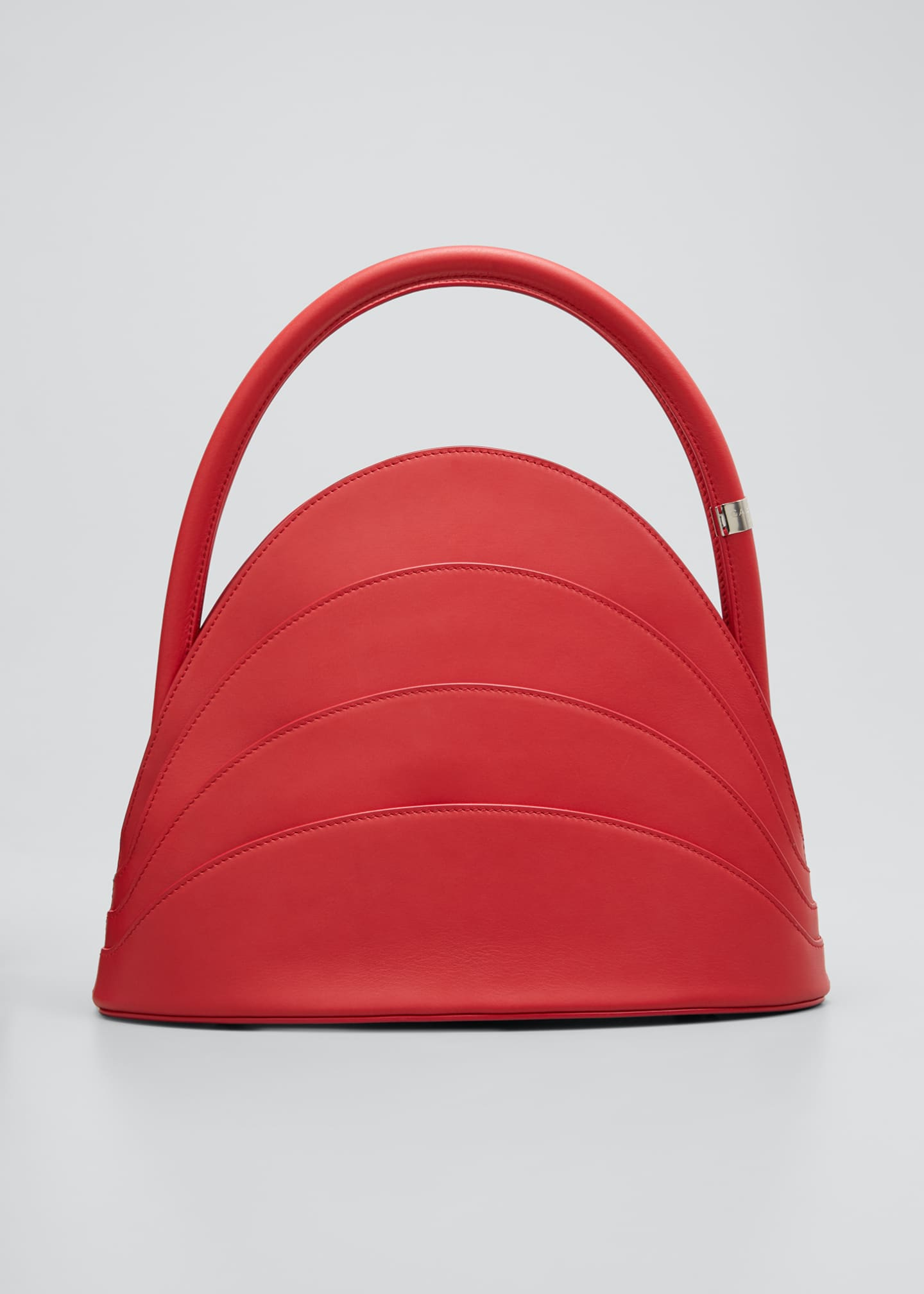 Image 1 of 5: Millefoglie Layered Top-Handle Bag, Red