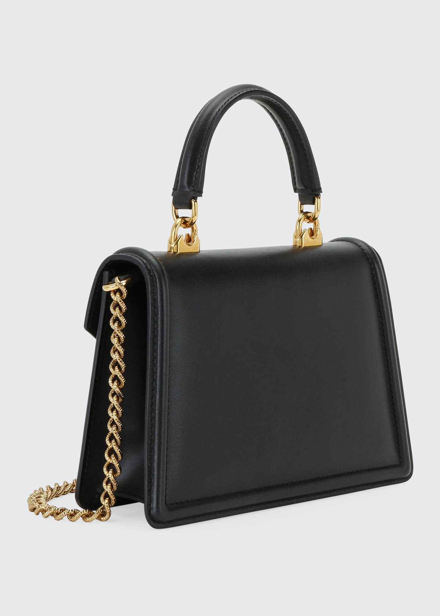 Image 3 of 5: Devotion Mini Leather Top-Handle Bag