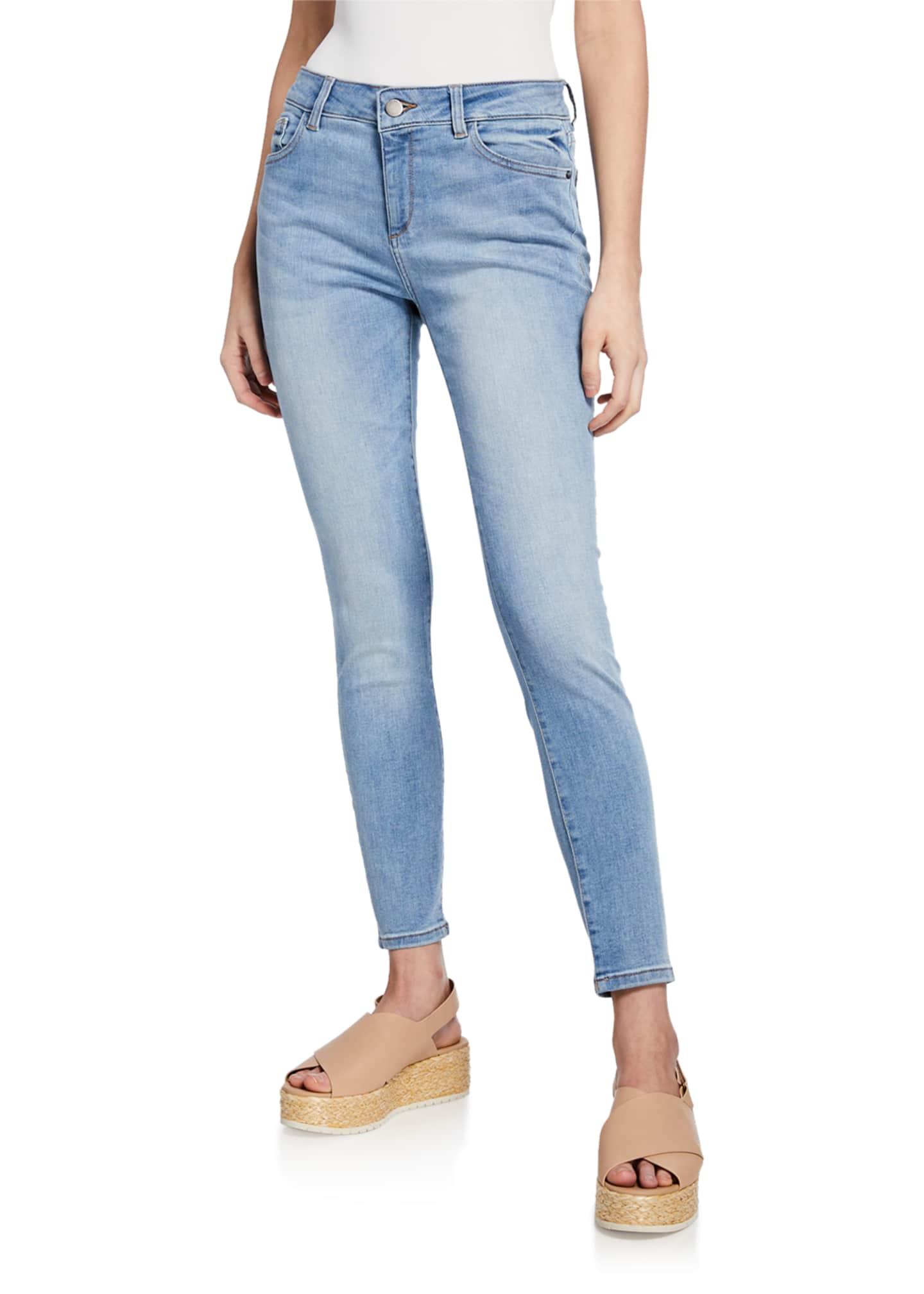 DL1961 Premium Denim Florence Mid-Rise Ankle Skinny Jeans