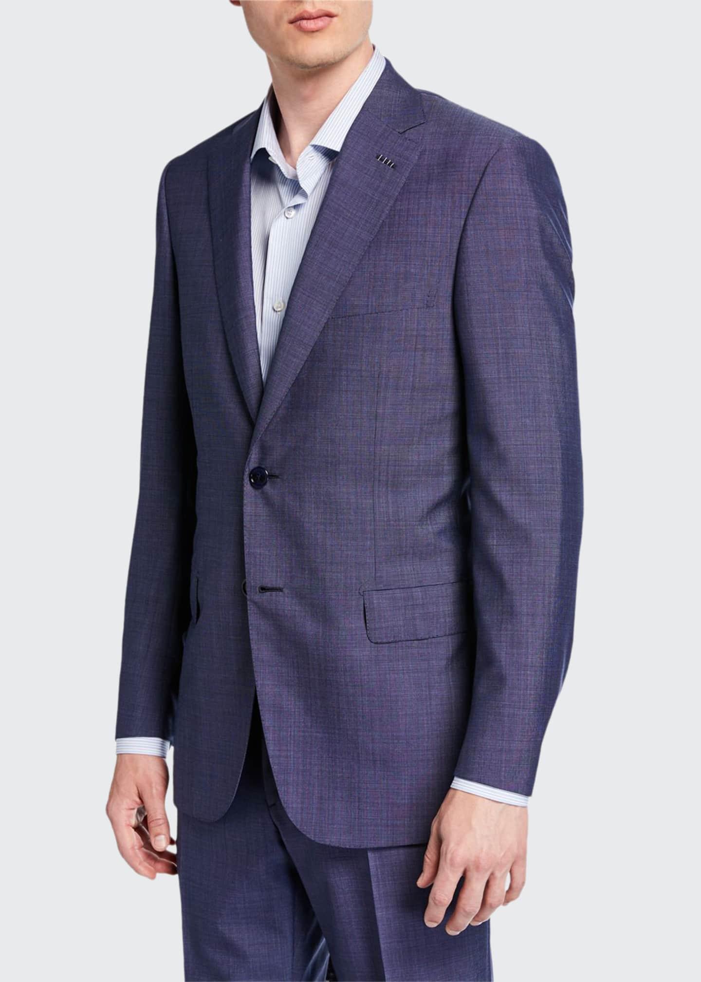 Brioni Men's Tic-Pattern Wool Two-Piece Suit