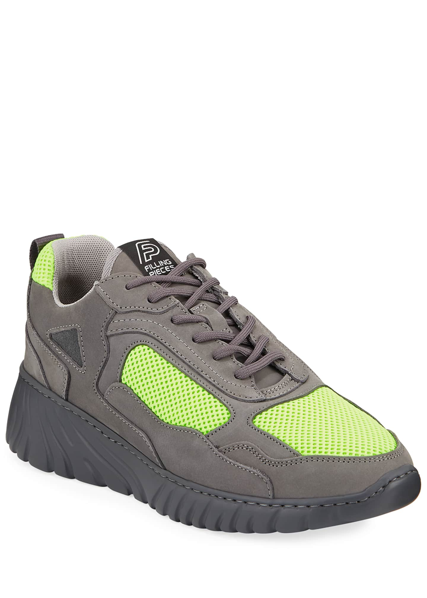 Image 1 of 3: Men's Loop Leather Trainer Sneakers