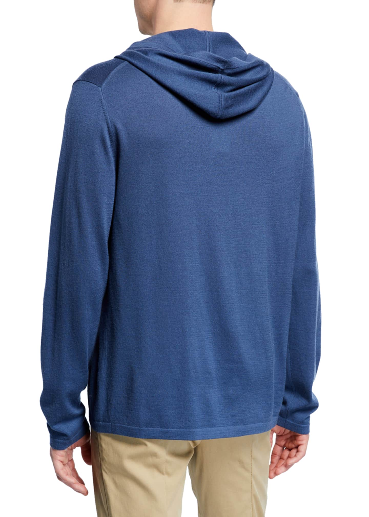 Image 2 of 2: Men's Wool-Cashmere Pullover Hoodie