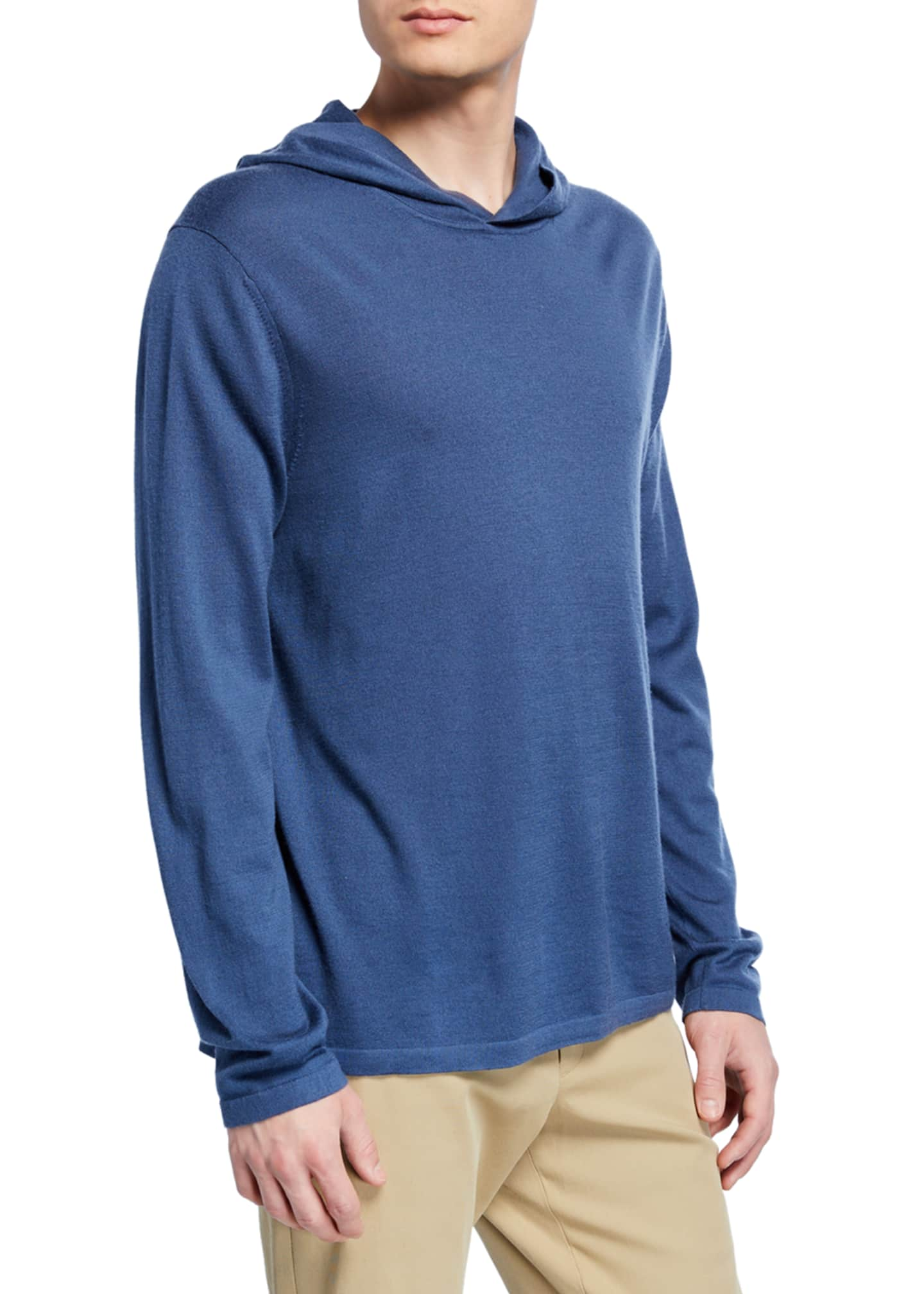 Image 1 of 2: Men's Wool-Cashmere Pullover Hoodie