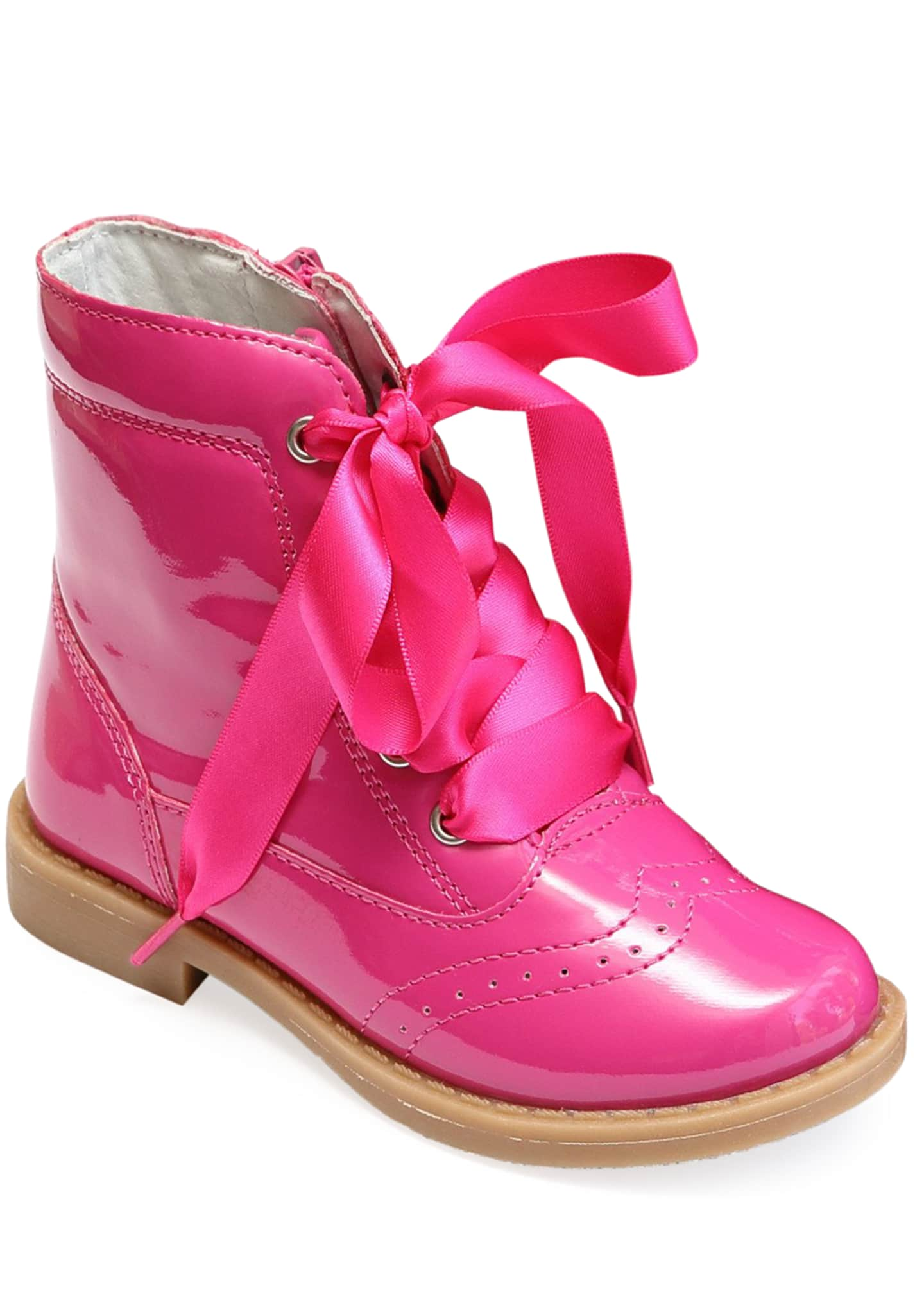 L'Amour Shoes Stella Patent Leather Mid-Top Boot,