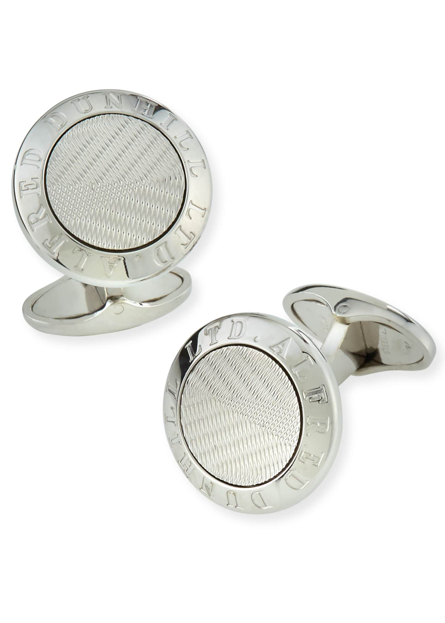 dunhill Men's AD Coin Silver Cufflinks