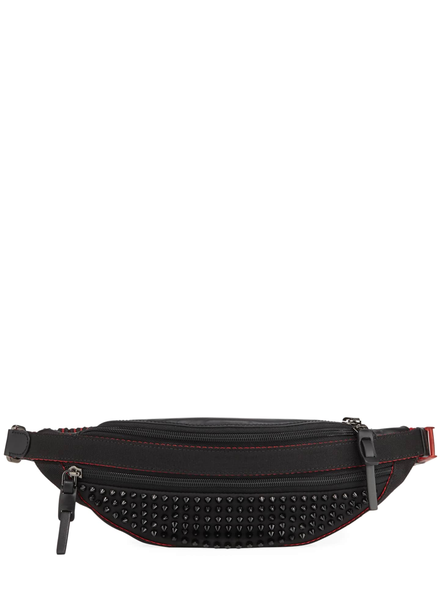Christian Louboutin Men's Paris NYC Spike Belt Bag/Fanny