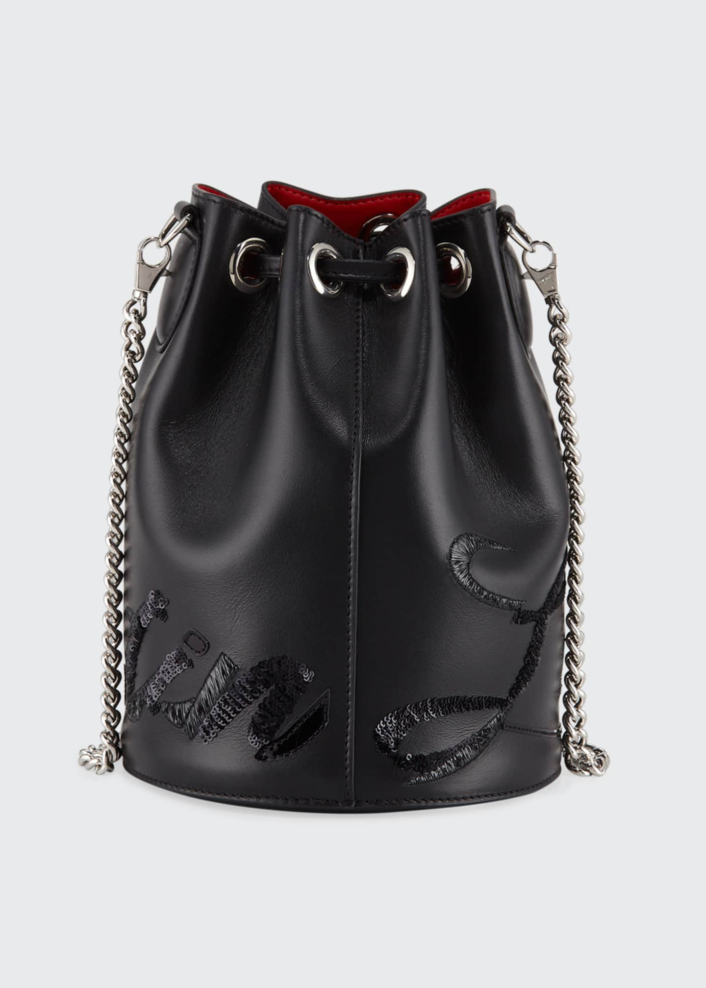 Image 3 of 4: Marie Jane Leather Bucket Bag