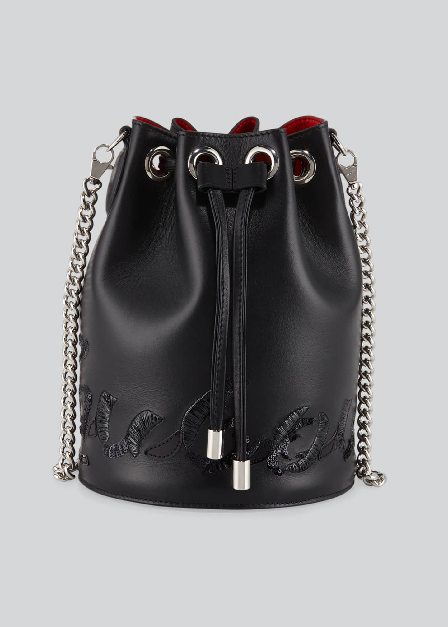 Image 1 of 4: Marie Jane Leather Bucket Bag
