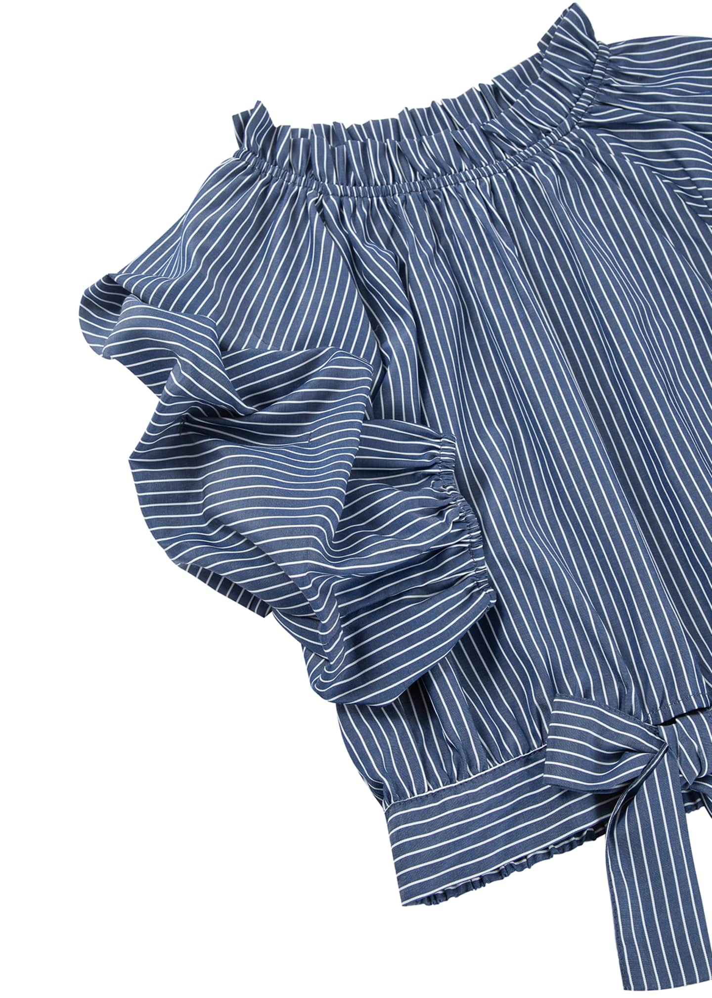Image 3 of 3: Joyce Striped Gathered Top, Size 7-16