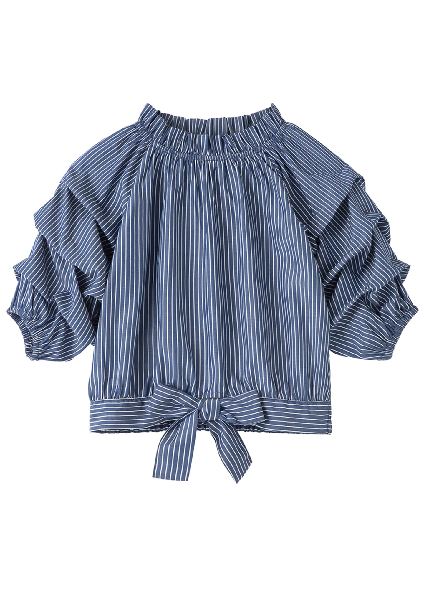 Joyce Striped Gathered Top, Size 7-16