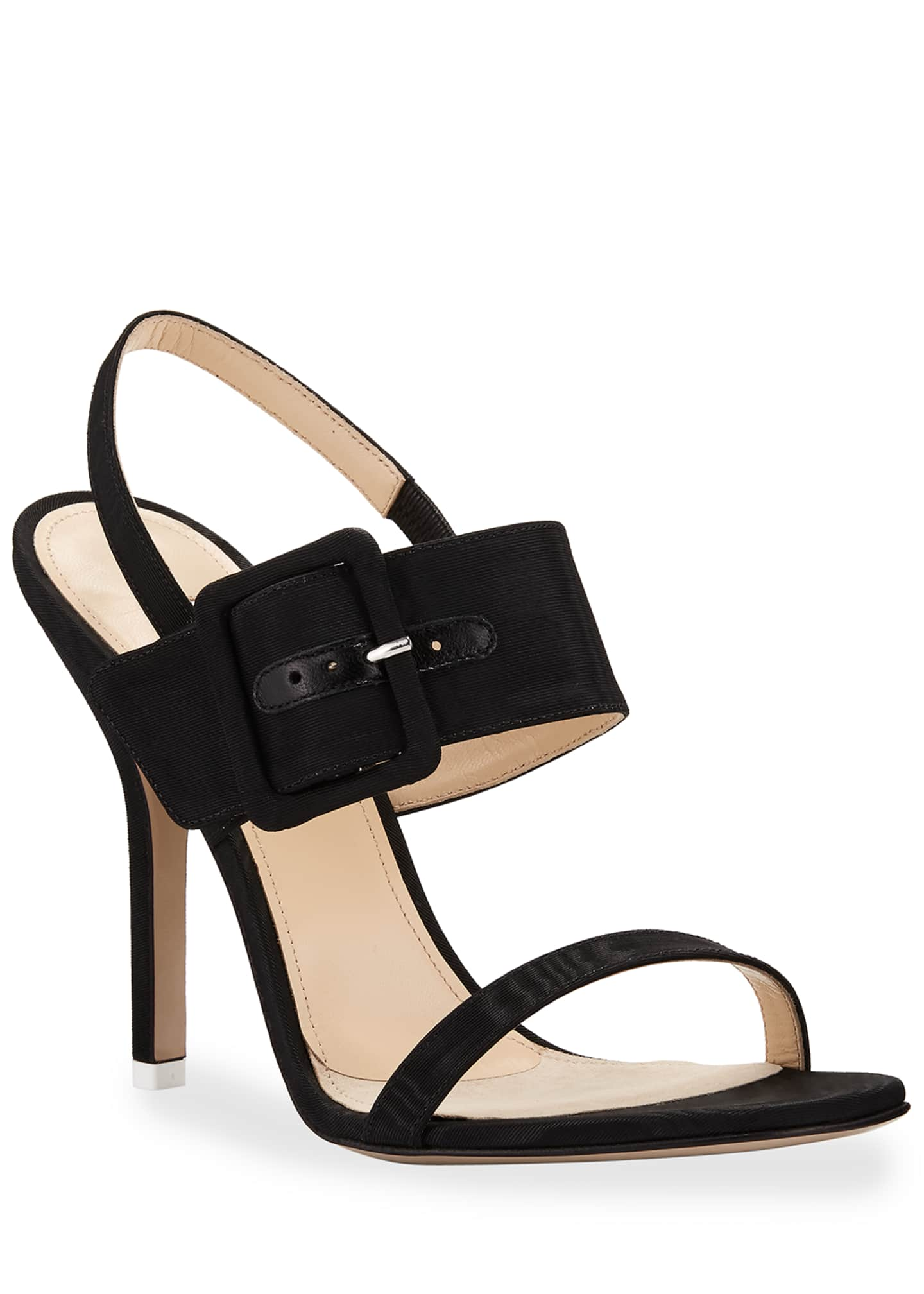 The Attico Mariah Fabric Buckle Sandals
