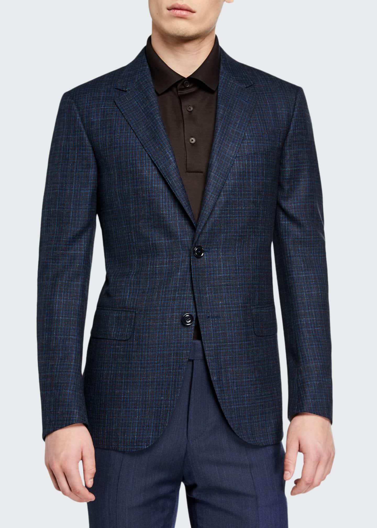 Ermenegildo Zegna Men's Wool-Blend Check Sport Coat