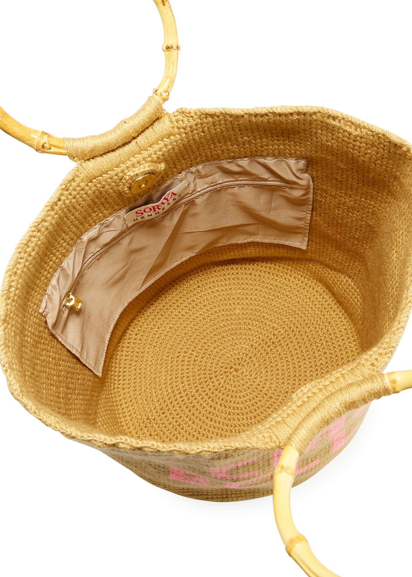 Image 2 of 3: Ciao Bella Woven Ring-Handle Tote Bag
