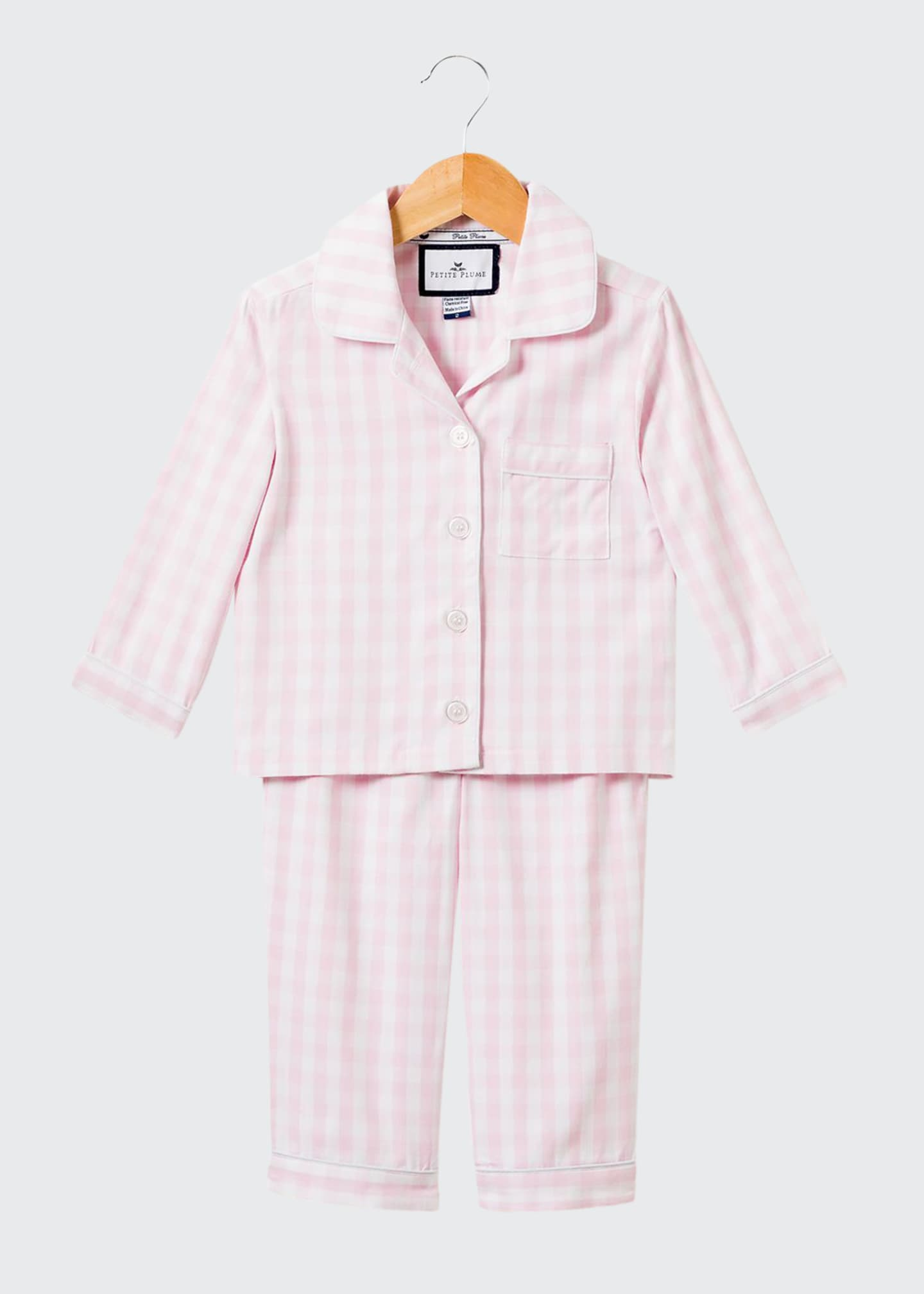 Image 1 of 1: Gingham Pajama Set, Size 6M-14