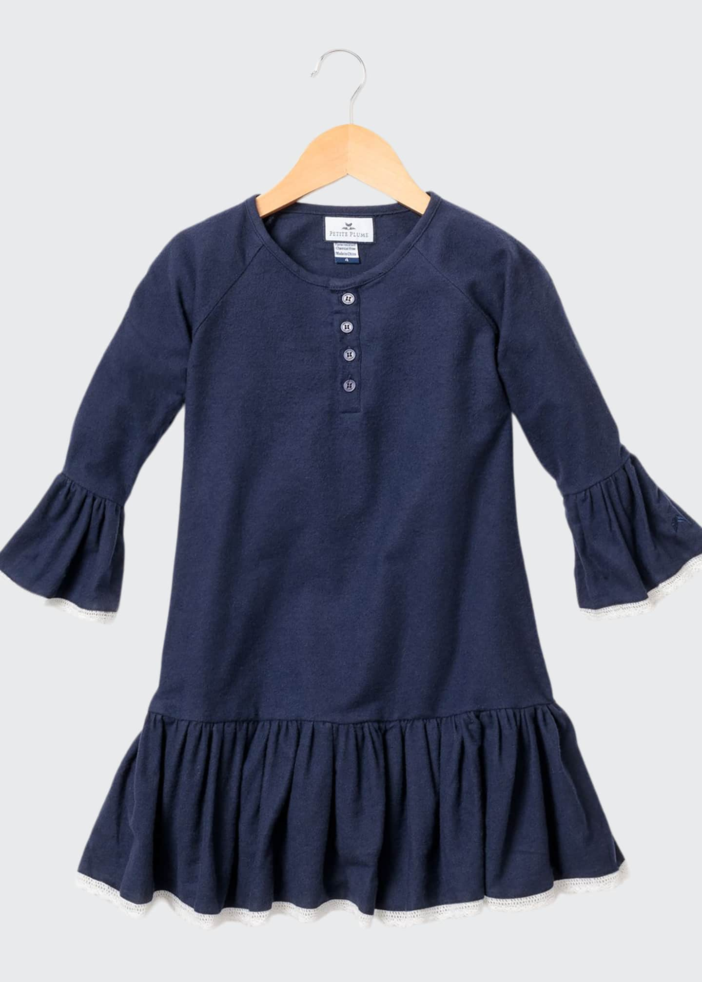 Petite Plume Arabella Lace-Trim Nightgown, Size 6M-14