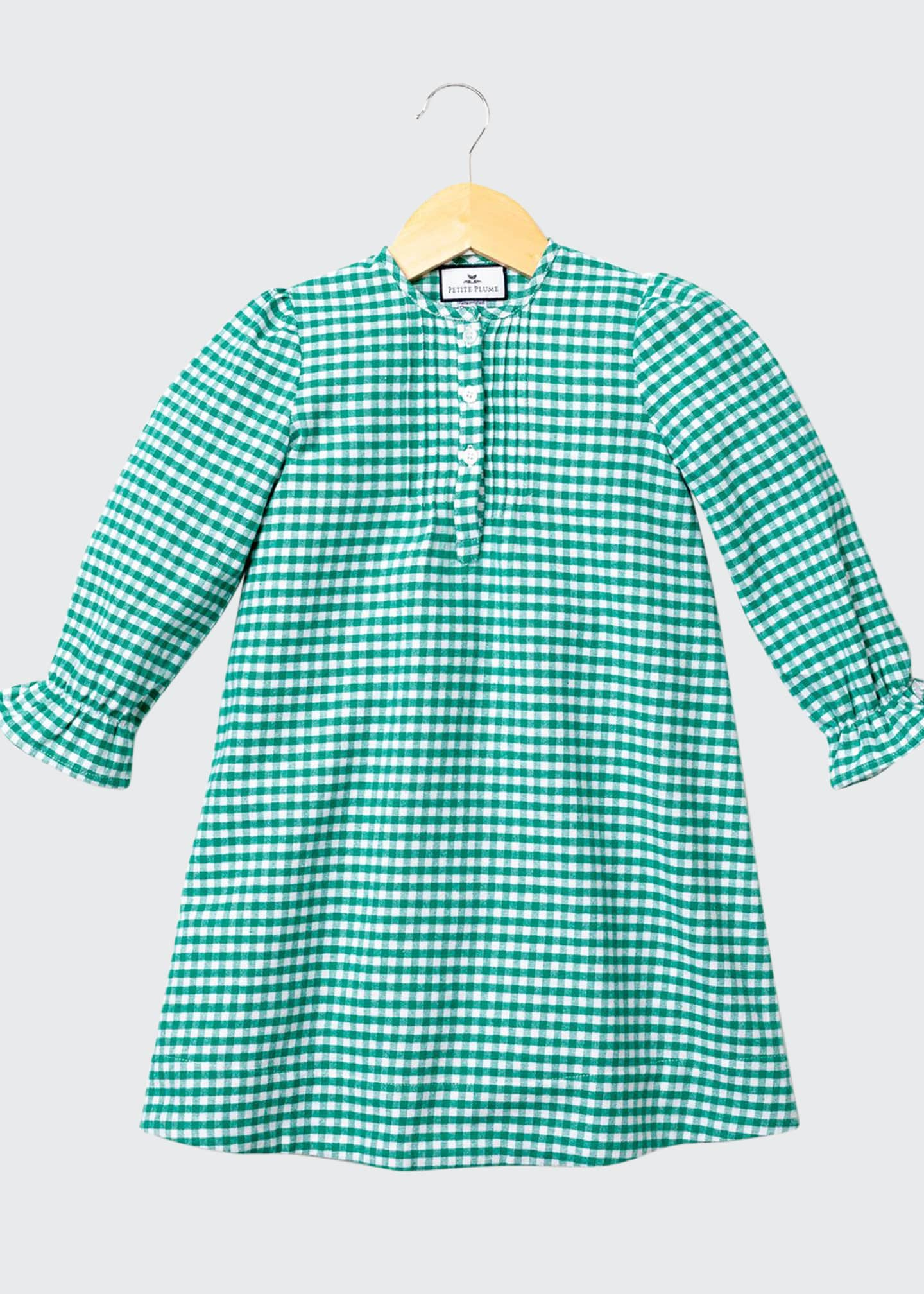 Image 1 of 1: Beatrice Gingham Flannel Nightgown, Size 6M-14