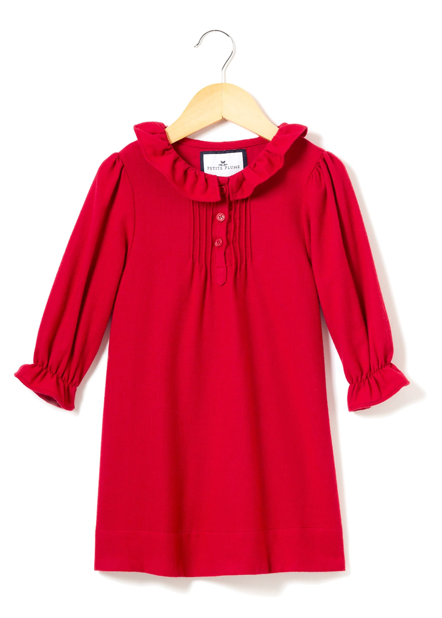 Image 1 of 1: Victoria Flannel Pintucked Nightgown, Size 6M-14