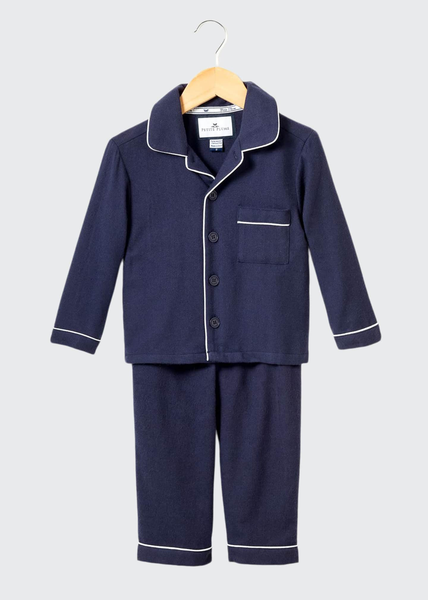 Image 1 of 1: Classic Flannel Pajama Set, Size 6M-14