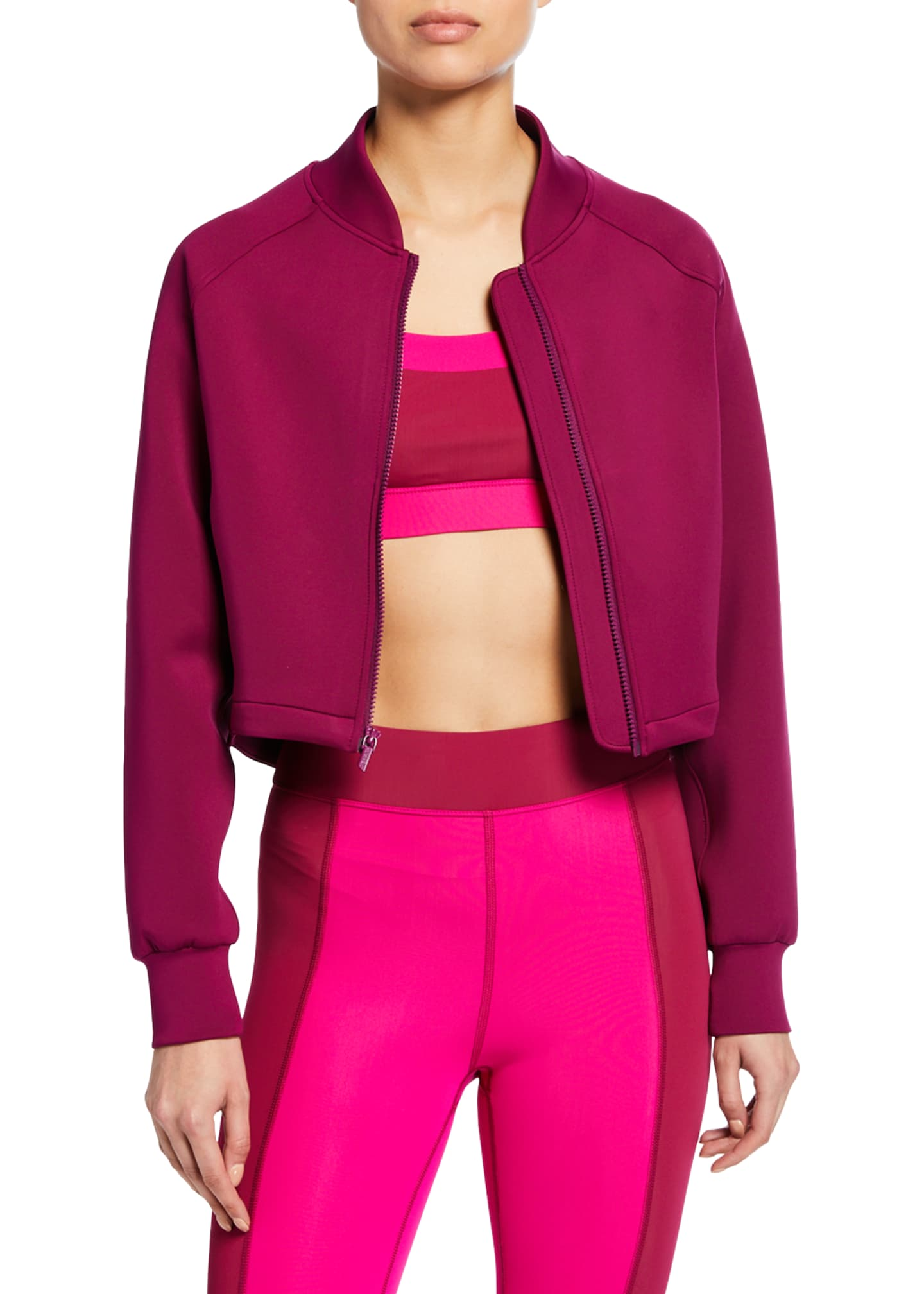 CUSHNIE Alyx Cropped Zip-Up Bomber Jacket