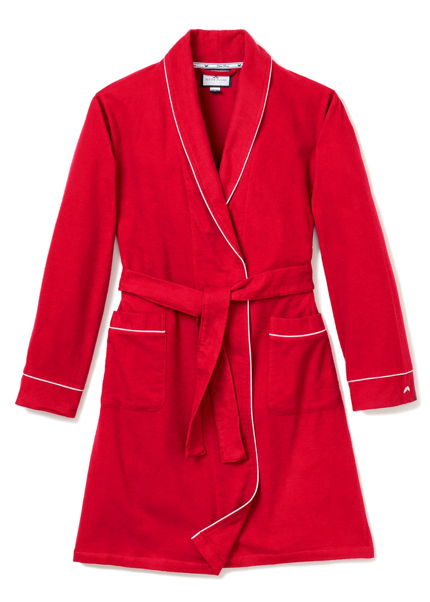 Image 1 of 1: Flannel Contrast-Piping Robe, Size 2-14