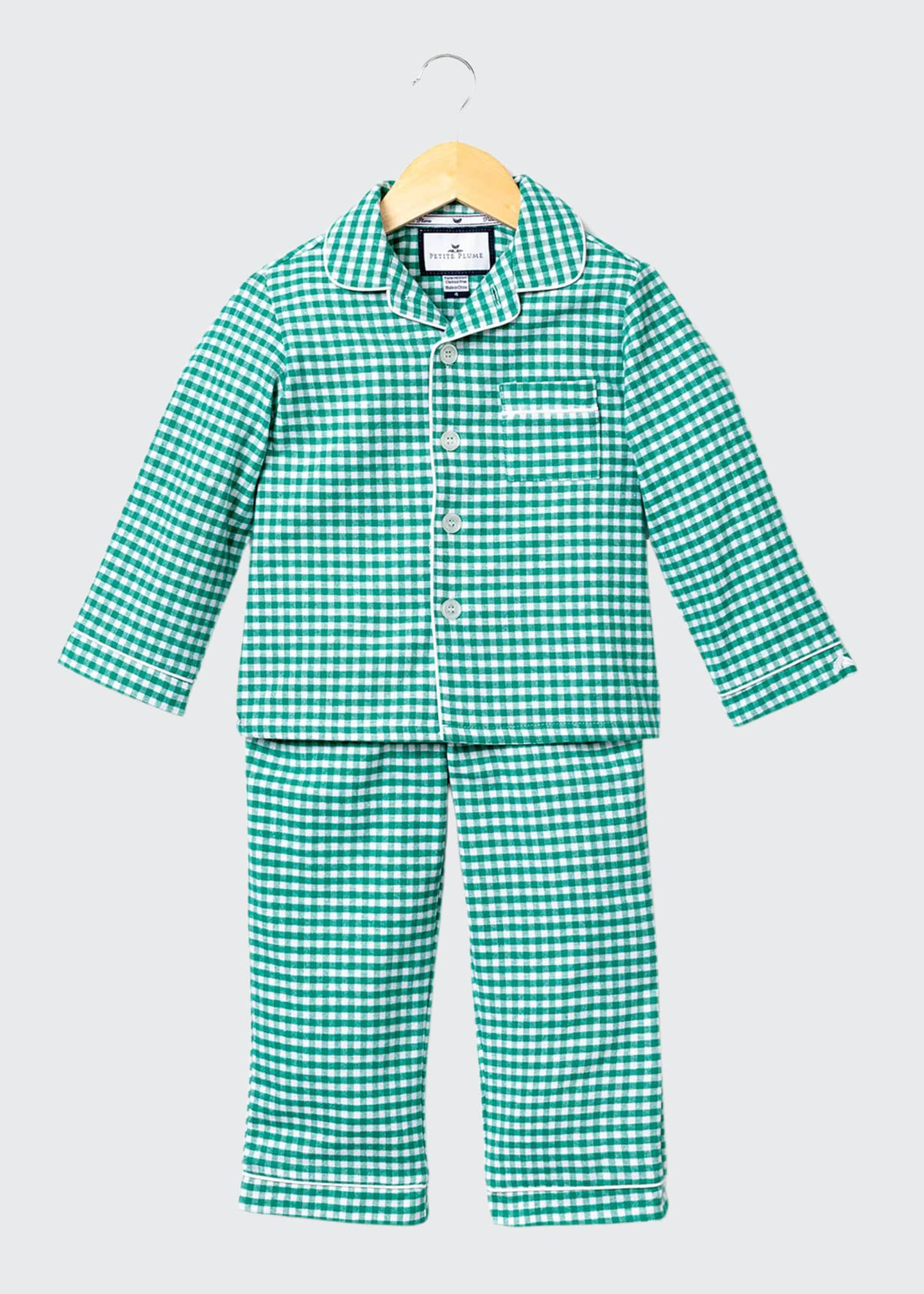 Image 1 of 1: Gingham Flannel Pajama Set, Size 2-10