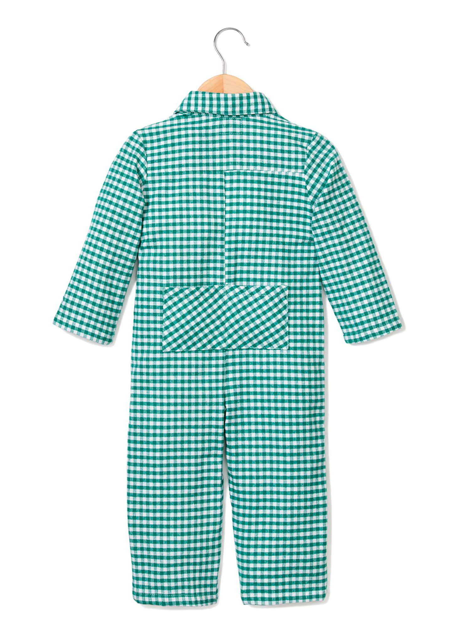 Image 2 of 2: Gingham Flannel Coverall, Size 0-24 Months