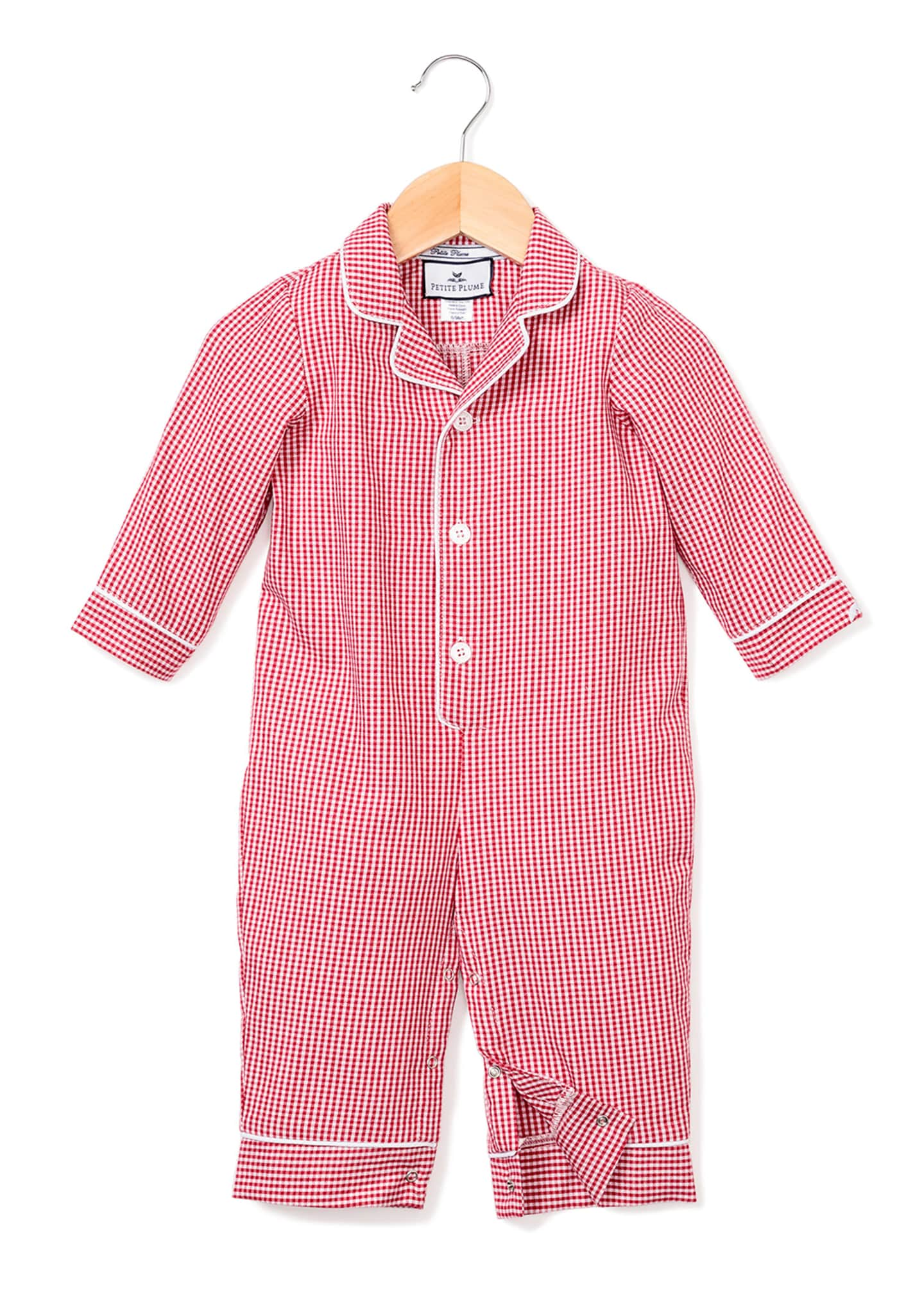 Image 1 of 2: Mini Gingham Coverall, Size 0-24 Months