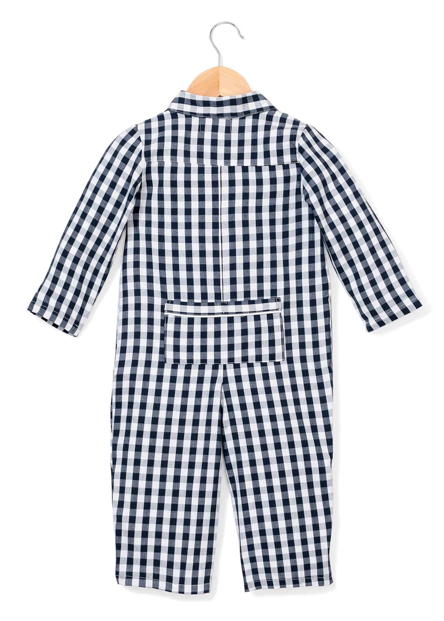 Image 2 of 2: Gingham Coverall, Size 0-24 Months