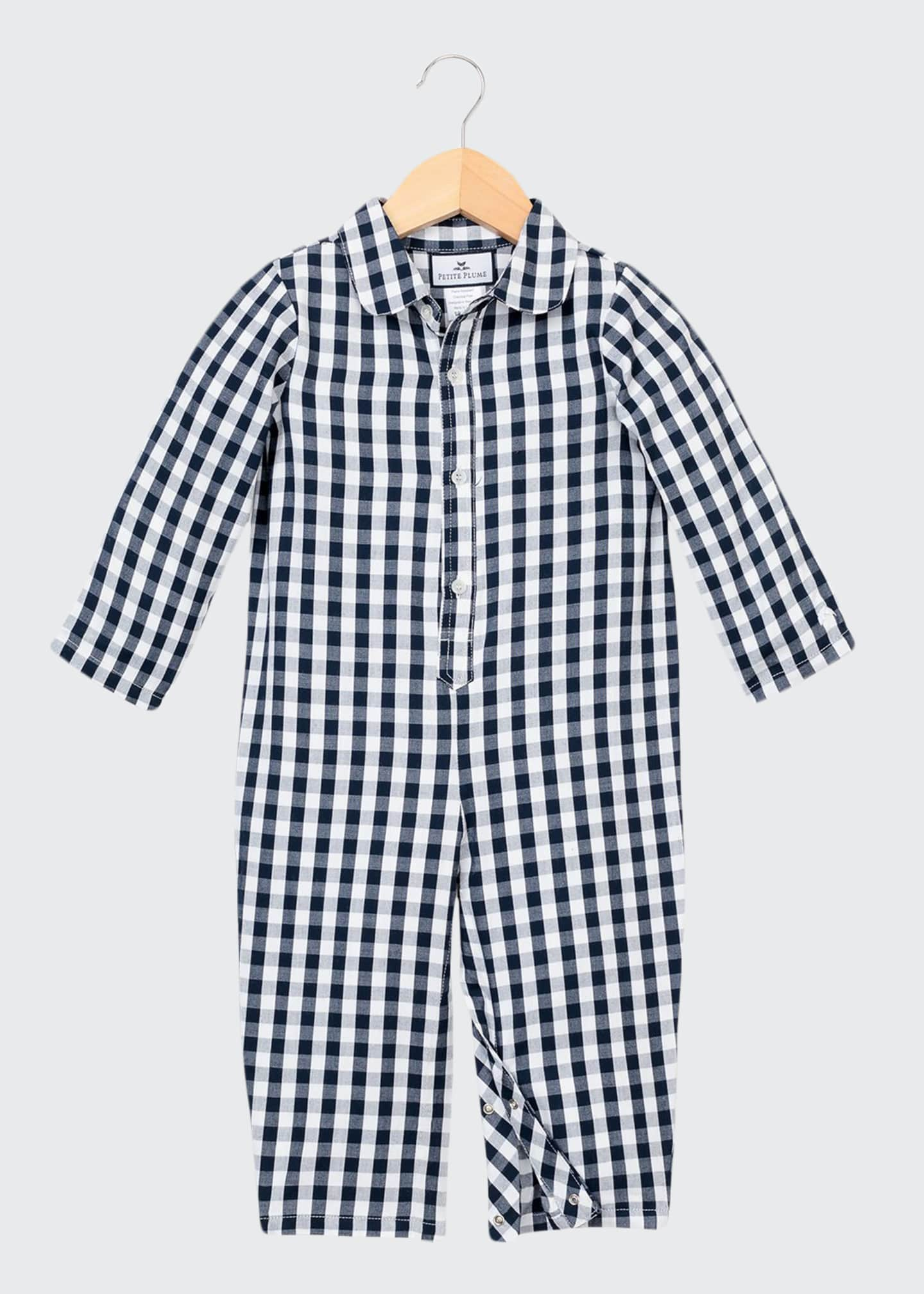 Image 1 of 2: Gingham Coverall, Size 0-24 Months