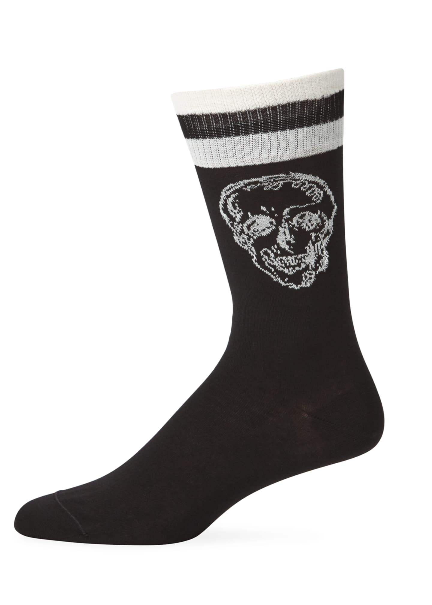 Alexander McQueen Men's Graffiti Skull Socks