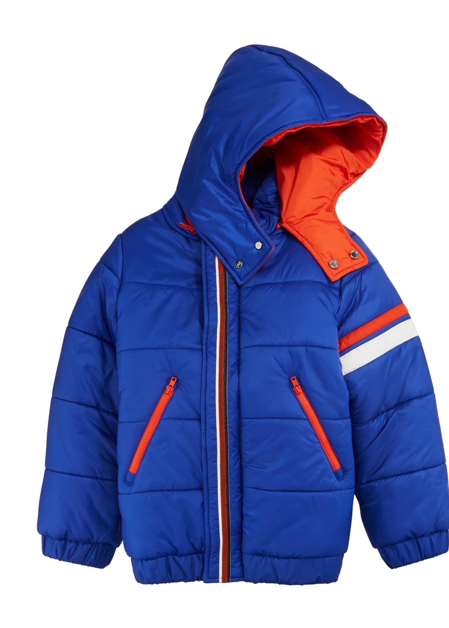 Image 1 of 1: Boys' Hooded Zip-Front Ski Jacket, Size 10-14