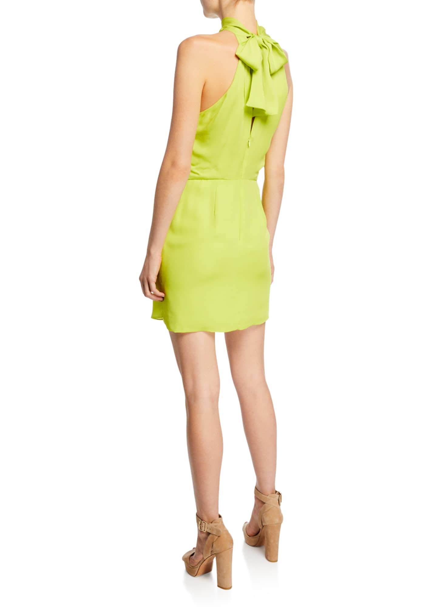Image 2 of 2: F2 Sleeveless Mock-Neck Dress with Drape Front Detail